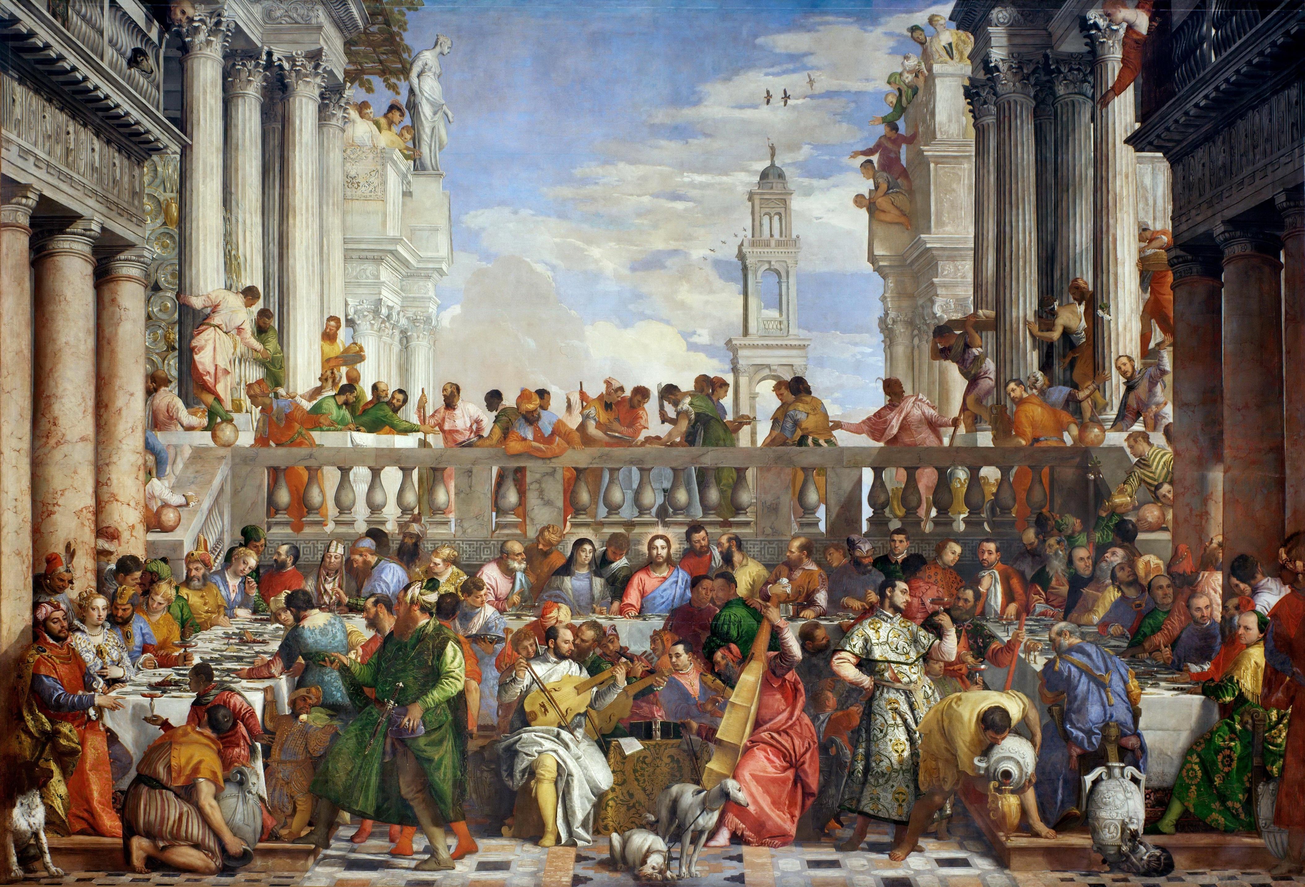 Le Nozze di Cana dipinto del Veronese